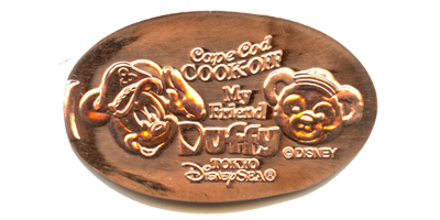 Mickey and Duffy Tokyo Disneyland pressed penny