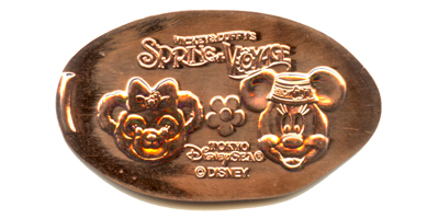 Shellie Mae and Minnie Mouse Tokyo DisneySea pressed penny.
