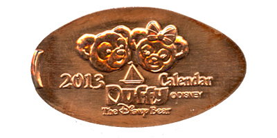 Click to zoom this Tokyo Disneyland picture of a Pressed Penny or medal