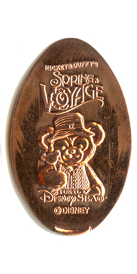 TD1305 Duffy the Disney Bear pressed penny