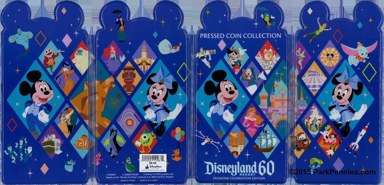 Walt Disney World 2 Elongated Pressed Penny Souvenir Album Book //
