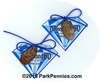 """Press"" pennies, given out to special guests at the Disneyland 60th press day."