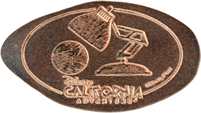 CA0250, CA0251, and CA0252  Disney California Adventure Park Incredibles Pressed Penny Set backstamp.