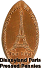 Disneyland Paris Pressed Penny Coin
