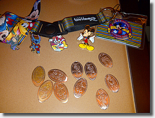 RFC Disneyland Paris pressed coins and pins