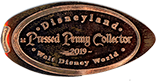 Disneyland Pressed Penny Collector Walt Disney World pressed coin DW0044