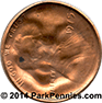 Mickey Mouse Pressed Penny by Adam Cool reverse
