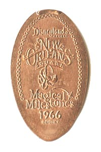 1966 Elongated Coin Minnie Mouse, New Orleans Square Opens from our elongated coin collection