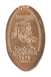 1979 pressed penny Big Thunder Mountain Railroad Opens from our elongated coin collection