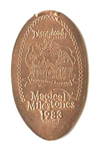 1983 pressed penny The New Fantasyland Opens from our elongated coin collection