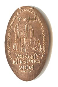 2004 smashed penny The Twilight Zone Tower of Terror Attraction Opens from our elongated coin collection