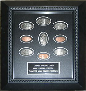Walt Disney World, Cruiseline framed elongated coin set.