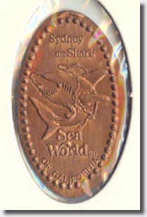 Sea World pressed penny or elongated coin