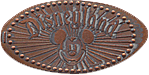 Disneyland USA pressed penny News LOGO