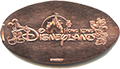 Hong Kong Disneyland pressed coin.