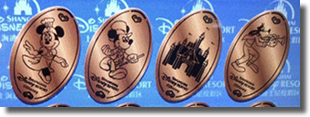 New Shanghai Disneyland Resort pressed coins November 8, 2018.