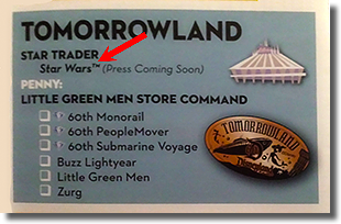 Star Wars Pressed Coins Disneyland